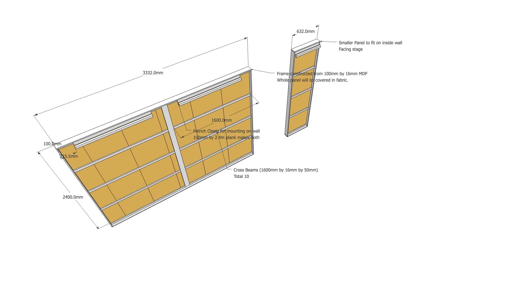 Acoustic Panel for Angled Walls v3-2018